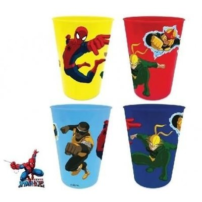 Spiderman Set plastic bekers